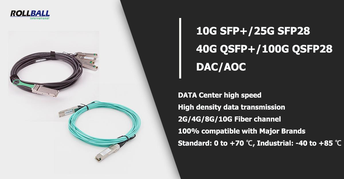 10G 40G 100G DAC AOC -rollball 1