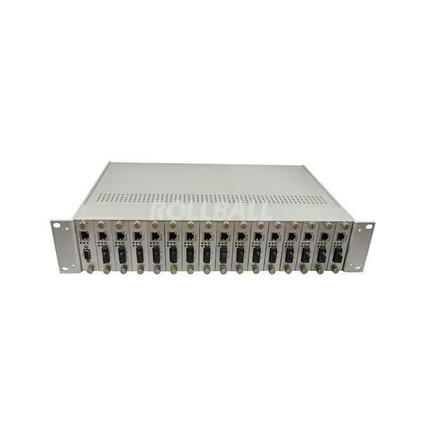 16 Slots media converter rack mount 1
