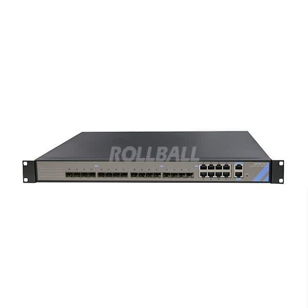 1U GPON OLT with 8*GPON Ports+8*GE Uplink SFP ports+8*GE Uplink Ethernet ports